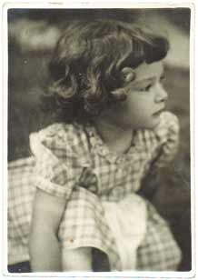 Ros Tennyson as a young girl